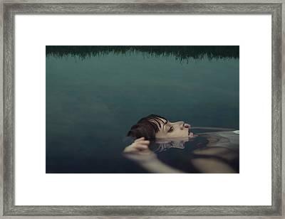 Ophelia Framed Print by Claudia M?ndez Cordero