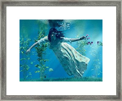 Ophelia Framed Print by Daniel Eskridge