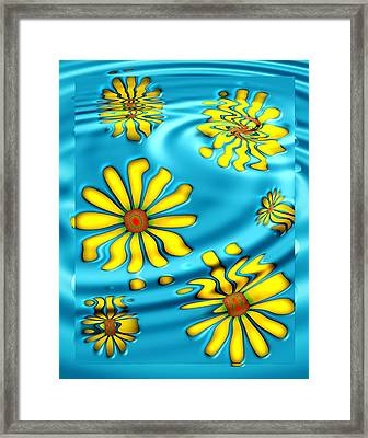 Ophelia's Daisies Framed Print by Wendy J St Christopher