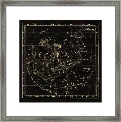 Ophiuchus Constellations, 1829 Framed Print by Science Photo Library