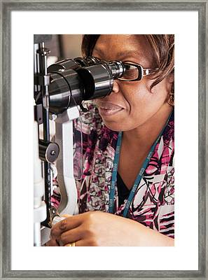 Ophthalmologist Framed Print