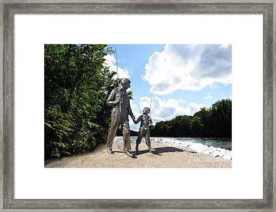 Opie And Andy Go Fishin Framed Print by David Arment