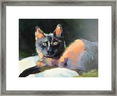 Opie Framed Print by Kimberly Santini