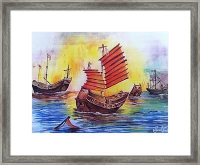 Opium War Framed Print by Sumit Jain