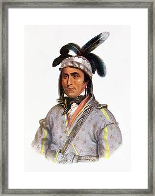 Opothle-yoholo, A Creek Chief, 1825, Illustration From The Indian Tribes Of North America, Vol.2 Framed Print