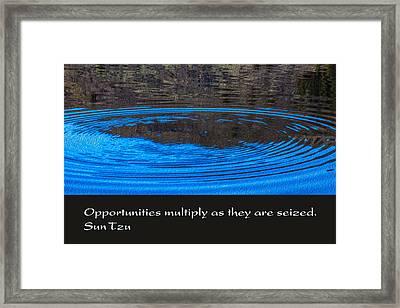 Opportunites Multiplied Framed Print by Omaste Witkowski