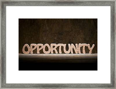 Opportunity Framed Print