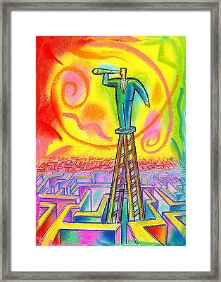 Opportunity Framed Print by Leon Zernitsky