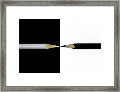 Opposed Framed Print
