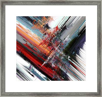 Opposing Angles Framed Print by Hal Tenny