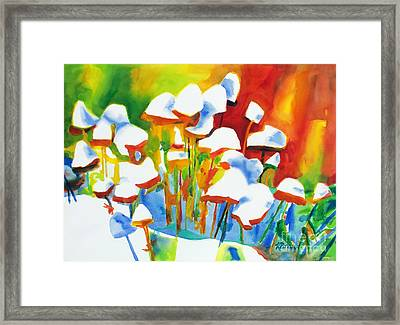 Opposites Attract Framed Print by Kathy Braud