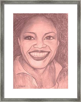 Framed Print featuring the drawing Oprah by Christy Saunders Church