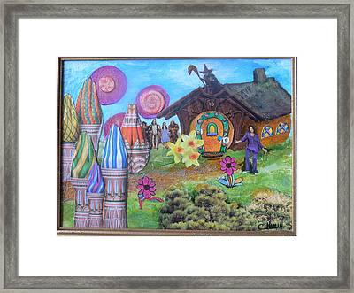 Framed Print featuring the painting Oprah The Rainbow by Catherine Hamill