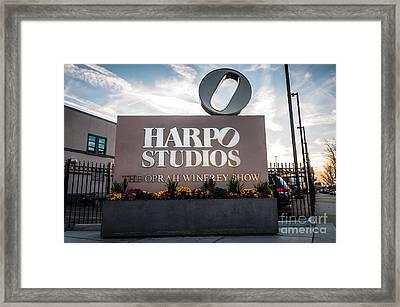 Oprah Winfrey Harpo Studios Sign In Chicago Framed Print by Paul Velgos