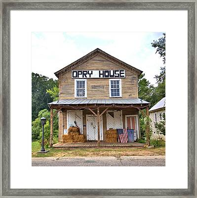 Framed Print featuring the photograph Opry House - Square by Gordon Elwell