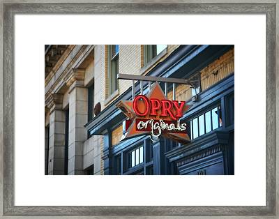 Opry Originals On Broadway Framed Print by Dan Sproul