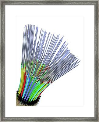 Optical Fibre Cable Framed Print by Alfred Pasieka