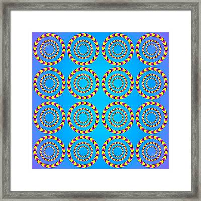 Optical Illusion Spinning Wheels Framed Print