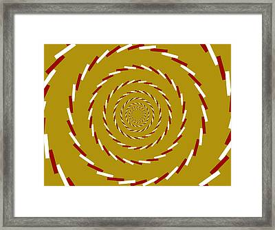 Optical Illusion Whirlpool Framed Print
