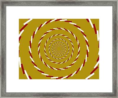 Optical Illusion Whirlpool Framed Print by Sumit Mehndiratta