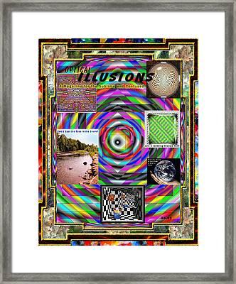Optical Illusions Framed Print by Mario Carini