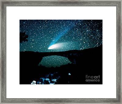 Optical Image Of Hale-bopp Comet Framed Print by John Chumack