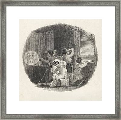 Optics And Children Framed Print by King's College London