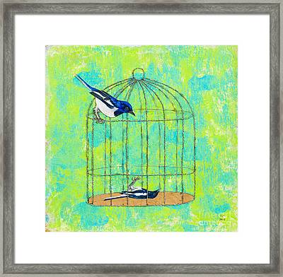 Optimism Never Wins Framed Print