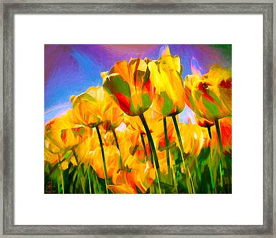 Framed Print featuring the digital art Optimism by Pennie  McCracken