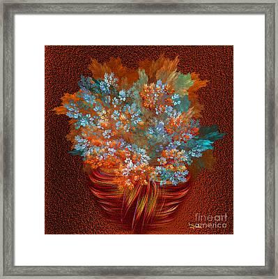 Optimistic Art - A Gift Of Joy By Rgiada Framed Print by Giada Rossi