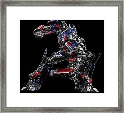 Optimus Prime Framed Print by Malania Hammer