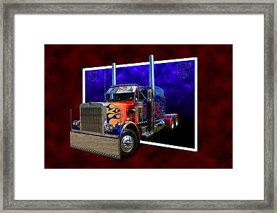 Framed Print featuring the photograph Optimus Prime Peterbilt by Keith Hawley