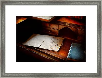 Optometrist - Done For The Night Framed Print by Mike Savad