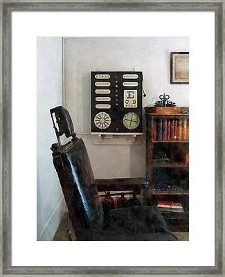 Optometrist - Eye Doctor's Office With Eye Chart Framed Print by Susan Savad