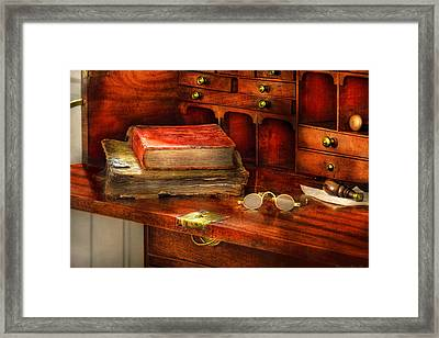 Optometrist - Glasses - The Secretary Framed Print by Mike Savad