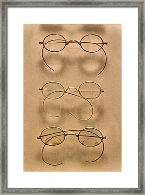 Optometrist - Simple Gold Frames Framed Print by Mike Savad