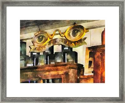 Optometrist - Spectacles Shop Framed Print by Susan Savad