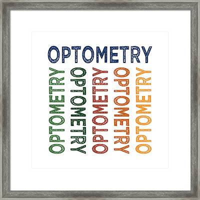 Optometry Cute Colorful Framed Print by Flo Karp
