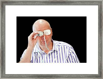 Optometry Lens Demonstration Framed Print by Dan Dunkley
