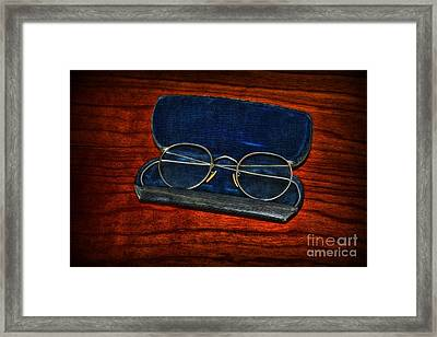 Optometry - Vintage Glasses Framed Print