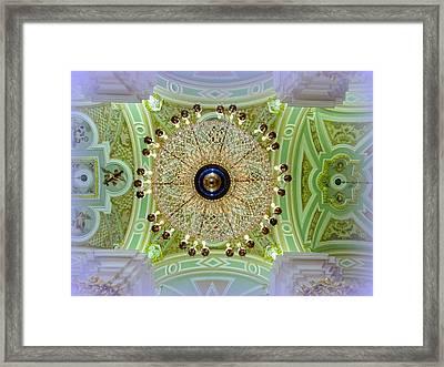 Opulence Overhead Framed Print by David Kovac