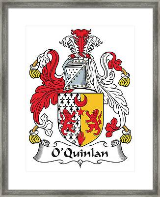 Oquinlan Coat Of Arms Irish Framed Print by Heraldry