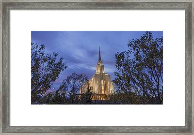 Oquirrh Mountain Temple II Framed Print by Chad Dutson