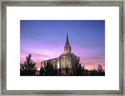 Oquirrh Mountain Temple Iv Framed Print by Chad Dutson
