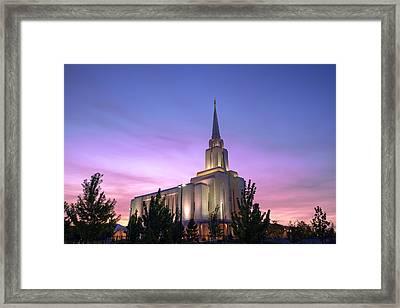 Oquirrh Mountain Temple Iv Framed Print