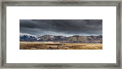 Oquirrh Mountains Winter Storm Panorama 2 - Utah Framed Print