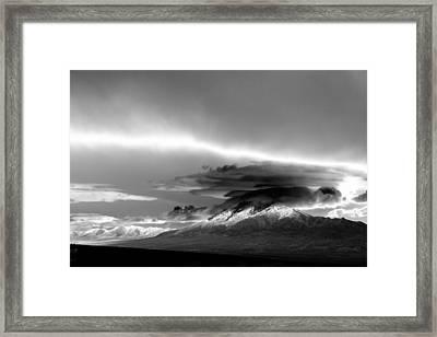 Framed Print featuring the photograph Oquirrh Range Utah by Ron White