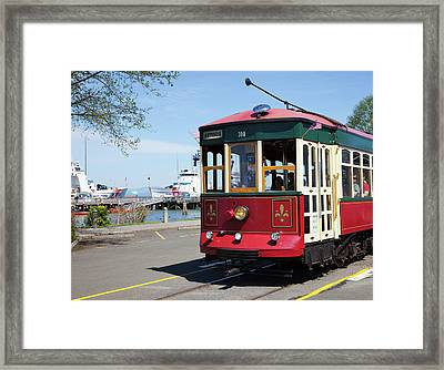 Or, Astoria, Astoria Riverfront Framed Print