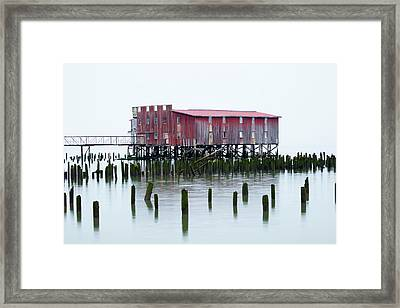 Or, Astoria, Old Fish Cannery Framed Print