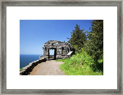 Or, Cape Perpetua Scenic Area, Shelter Framed Print by Jamie and Judy Wild